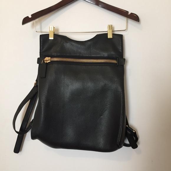 13299595d26b Dream Control Handbags - Big Zip Women s Backpack - Black with Gold Details